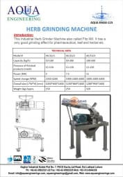 Herb Grinding Machine