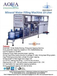 19 liter water filling Machine