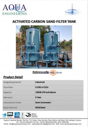 Activated Carbon Sand Filter Tank
