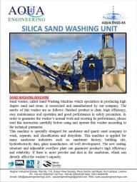 Salica Sand Washing Unit
