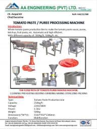 Tomato Paste / Puree Processing Machine