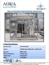 milk powder processing machine