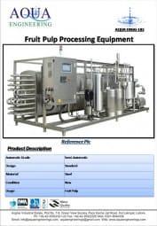 fruit pulp processing machine