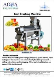 fruit crushing machine